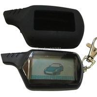 2-weg B9 LCD Afstandsbediening Sleutelhanger voor Russische Voertuig Beveiliging Auto Alarm Systeem Twage Starline B9 Sleutelhanger fob Motor Start