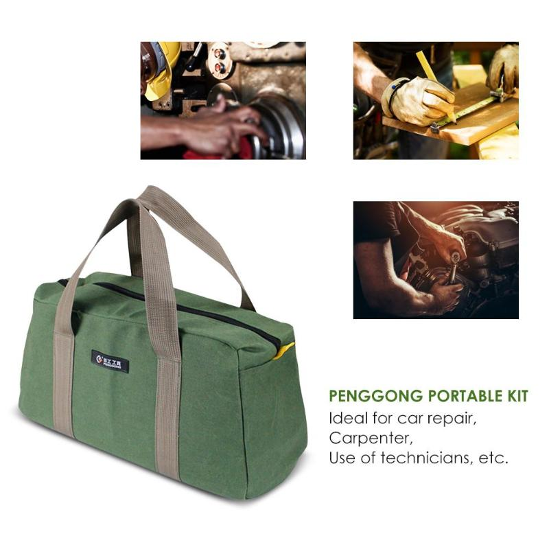 Tool Organizers Canvas Waterproof Storage Hand Tool Bag Screws Nails Drill Bit Metal Partstravel Makeup Organizer Pouch Bag Case Tool Bag Without Return