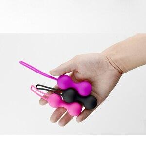 Image 5 - Kegel 운동 무게 실리콘 질 강화 공 골반 바닥 운동을위한 방광 제어 공