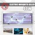 40 W LED Mosquito asesino lámparas 220 V luz LED insecto asesino Shock eléctrico lámpara de noche luces Mosquito insecto volar Zapper trampas