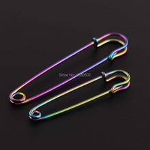 20pcs/lot Rainbow Color Beautiful Fashion Brooch pins Safety Pins for Women Earring Decoration