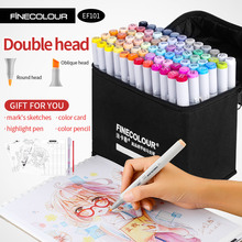 цены Finecolour Alcohol Art Marker Color Pen Artist Double Headed Sketch Marker 36 48 60 72 Set EF101 Markers for Drawing