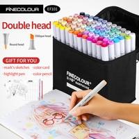 Finecolour Alcohol Art Marker Color Pen Artist Double Headed Sketch Marker 36 48 60 72 Set EF101 Markers for Drawing