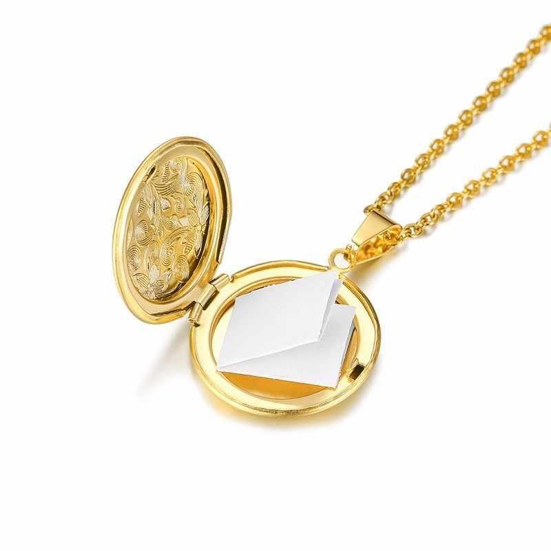 Vintage Pokeball okrągłe z kwiatowym wisiorek medalion naszyjnik ze zdjęciami złoty stal nierdzewna 20 cali