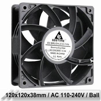 1 pcs EC Brushless Cooler Cooling Fan 120mm x 38mm 12038 12cm AC 110V 115V 120V 220V 240V 2 Wires ta15052hbl 2 axial cooling fan ac 220v 0 18a 17252 17cm 172 150 52mm 2 wires 50 60hz