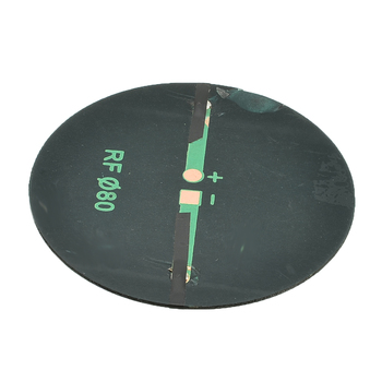 6V 2W 0.35A Solar Power 80MM DIY Mini Polycrystalline Silicon Solar Cell Module Circle Round Solar Panel Epoxy Board 5