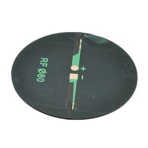 Image 5 - 1/5/10 Uds 6V 2W 0.35A de energía Solar 80MM DIY Mini policristalino célula Solar de silicio para círculo ronda Panel Solar epoxi tablero