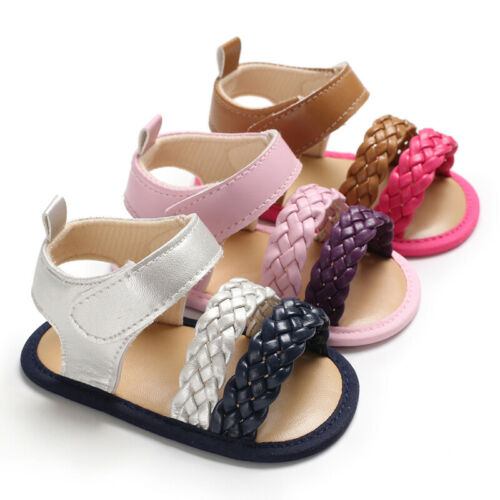 0-19M Newborn Infant Baby Girl Soft Sole Sandals Toddler Summer Shoes Bowknot Sandals