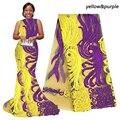 Tela de encaje africano púrpura para aso ebi crema naranja tela de encaje francés amarillo con piedras blanco último encaje de tul