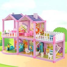 Кукольный домик вилла DIY сборный домик Милая модель замка Моделирование игровой набор игрушки набор с без запаха и изысканный дизайн