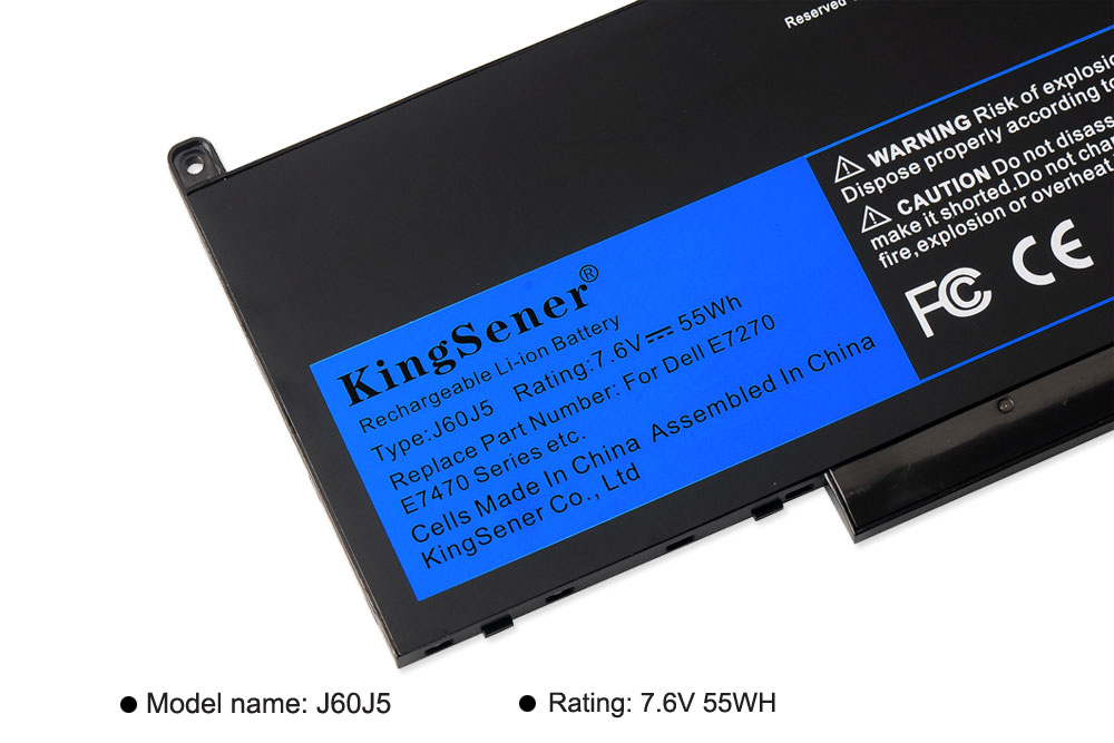 Image 5 - KingSener New J60J5 Replacement Laptop Battery For Dell Latitude E7270 E7470 J60J5 R1V85 MC34Y 242WD 7.6V 55Wh-in Laptop Batteries from Computer & Office