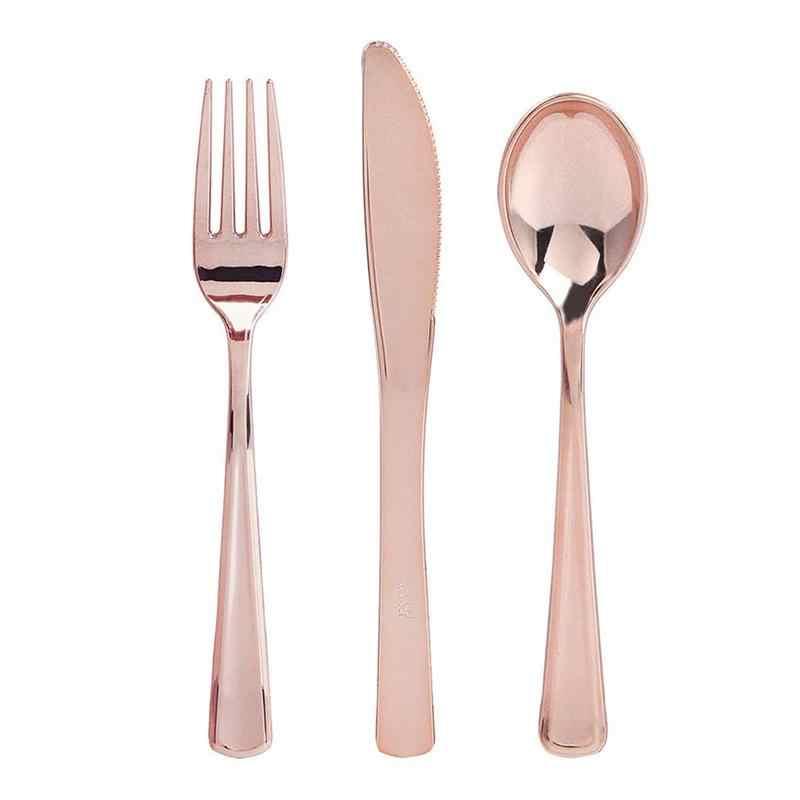 12pcs FLAT ชุบช้อนส้อม Western ขนมหวานช้อนส้อมช้อนไอศครีมยาวแบบใช้แล้วทิ้ง Cutlerys