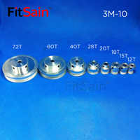 Fitsain-htd 3M koło pasowe ze stopu aluminium współczynnik redukcji koło pasowe napędu 12 T/15 T/18 T/20 T/28 T/40 T/60 T/72 T