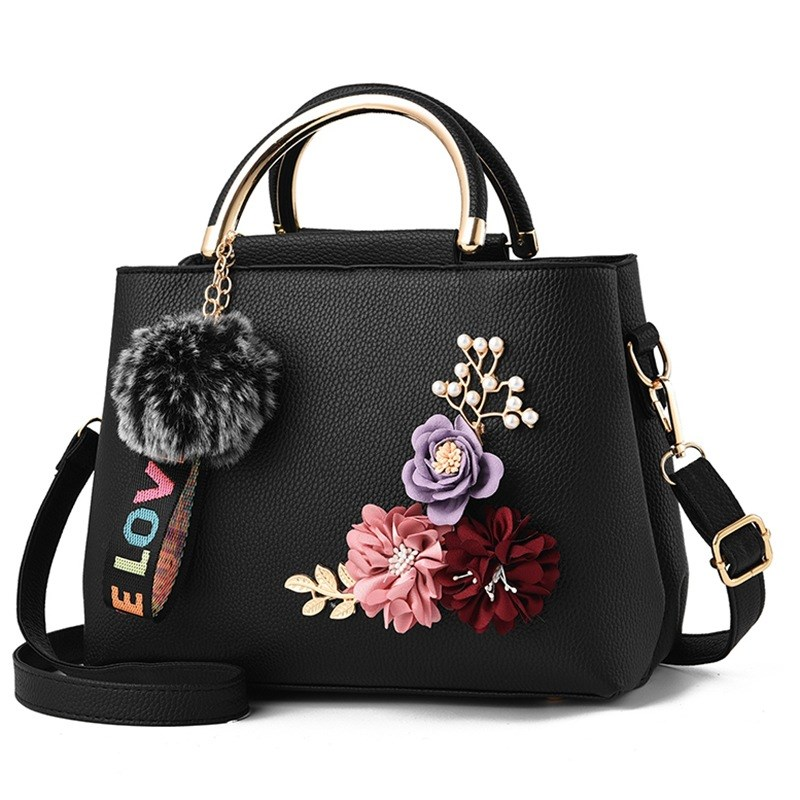 Flowers Women's Tote Leather Clutch Bag Small Ladies Handbags Women Messenger Bags Sac