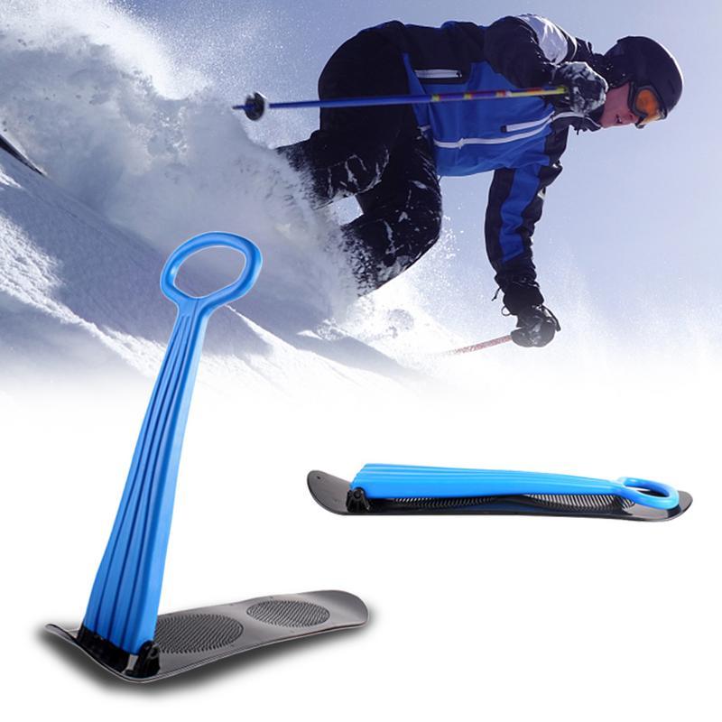 En plein air Ski Placage Snowboard scooter pliant pour Adulte Enfants traîneau à neige poignée à prise Hiver Jouant Équipement De Déneigement