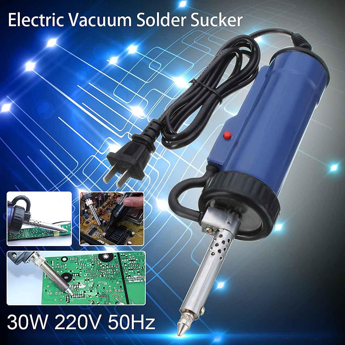 30W 220V 50Hz soudure ventouse électrique vide dessoudage pompe fer pistolets soudure réparation outil avec buse et tige de forage