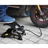 Bicycle Car Accessory Foot Pump Double Cylinder Pedal Type Efficiency Pump For Bicycle Electric Car Car Ball Pumping Tools