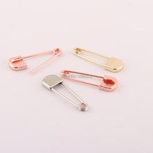 30pcs/lot Metal 35mm Rose Gold /Gold /Silver Color  Safety Pins Brooch pins Sewing accessories