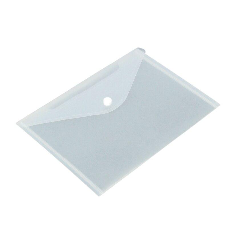 12pcs/set Transparent Plastic A5 Folders File Bag Document Hold Bags Folders Filing Paper Storage Office School Supplies