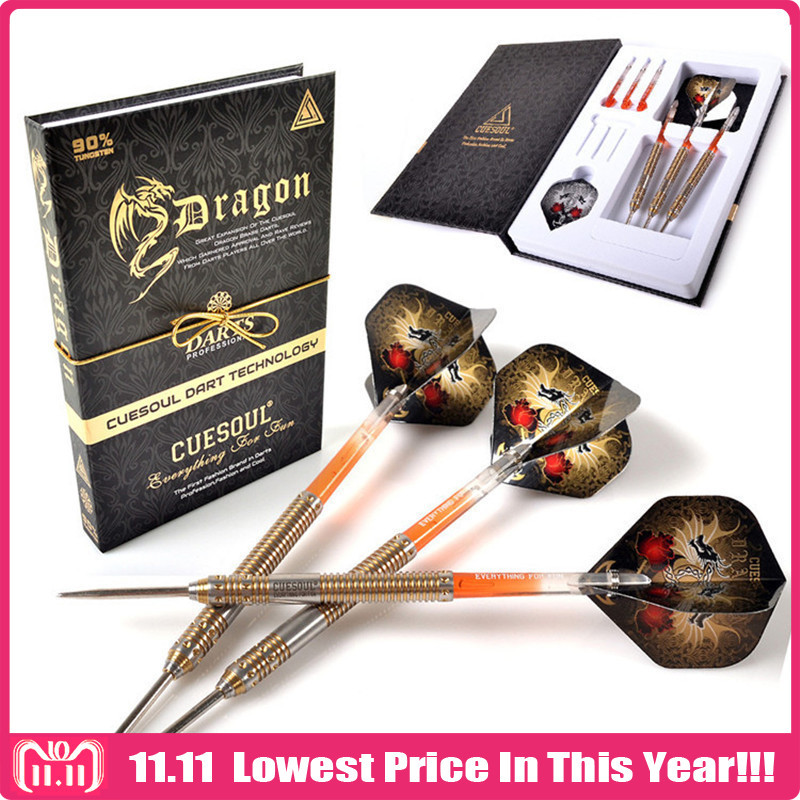 CUESOUL Professional Steel Tip Darts 26g 15cm With 90% Tungsten Dart Barrel High Quality Case new cuesoul 90