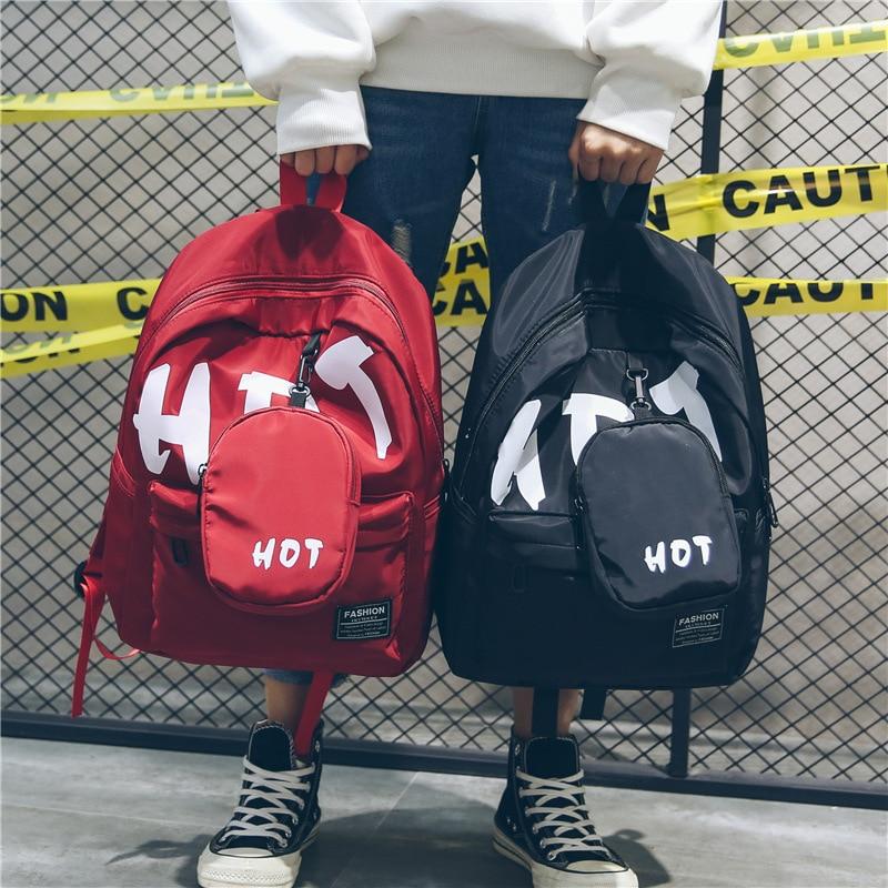 Backpack Women Fashion Trend Printed Nylon Shoulder Bag Leisure Travel Gym Students Versatile Computer Bags