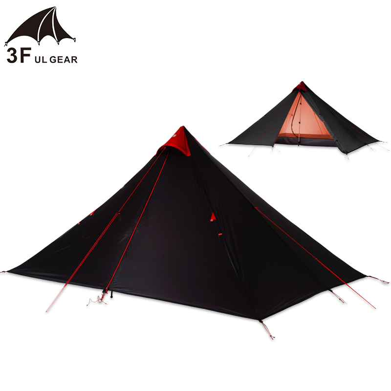 3F UL Gear Single Person 15D Silicone Coating Rodless Double Layers Tent Waterproof Portable Ultralight Camping