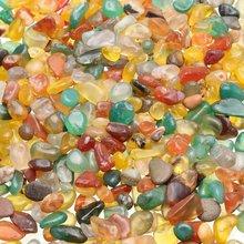 KiWarm 100g mieszane kolor nieregularny kształt spadł kamień agat Rock klejnot koralik Chip dla Fish Tank akwarium Decor DIY materiały 7*9mm tanie tanio Sztuka ludowa Maskotka Europa