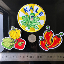 PGY Fruits And Vegetables Patchwork Patch Embroidered Patches For Clothing Embroidery Iron On Close Shoes Bags Badges