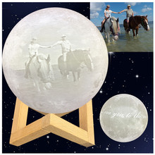 Индивидуальные личность 3D печать Луна ночник зарядка через usb ночника Touch Новинка домашний декор креативный подарок