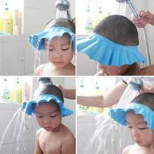 Shampoo Cap Bath Shower Hat Baby Kids Adjustable Hair Wash Shield Shower Bathing Bath Protect Soft Cap Hat For Baby Child Cute(China)