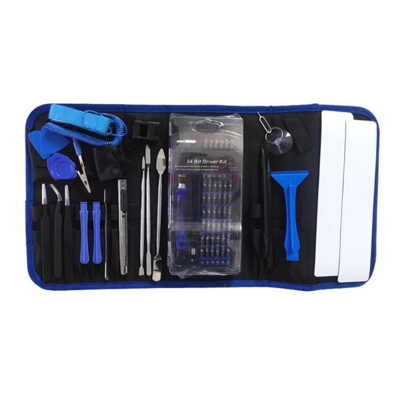 86 in 1 Cell Phone Repair Opening Pry Disassemble Tools Set Tweezers Kit Mobile Phone Repair Tool Kit for Laptop Hand Tool
