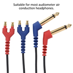 Audiometer Headset Cable Wire for Headphone Air Conduction Audiometer Hearing Tester Health Care