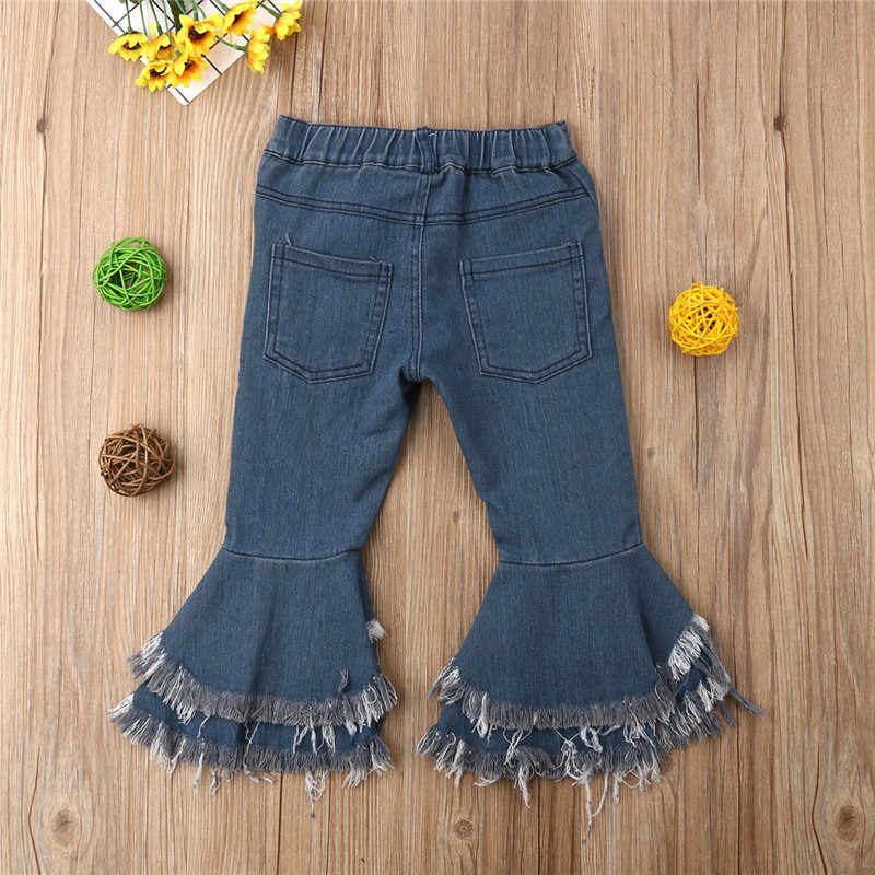 945906a6d72 ... PUDCOCO Fashion Toddler Baby Girls Long Flare Jeans Denim Trousers Full  Length Child Girl Suit 2