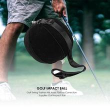 Inflatable Golf Impact Ball Golf Swing Trainer Aid Assist Po