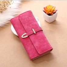 Womens Wallet Korean Version Matte Lingge Ladies Long Sewing Thread Hand Bag