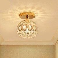 Crystal Aisle Ceiling Light Balcony Modern LED Ceiling Lights Lamps for Living Room Crystal Ceiling Lamp
