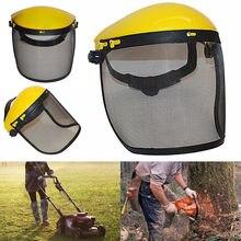 Защитный шлем с полнолицевым сетчатым козырьком для лесозаготовок кусторез лесозаготовительная защитная сетка защитный шлем косилка
