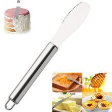 Шпатель из нержавеющей стали, нож для масла, сэндвич, пила, широкое лезвие