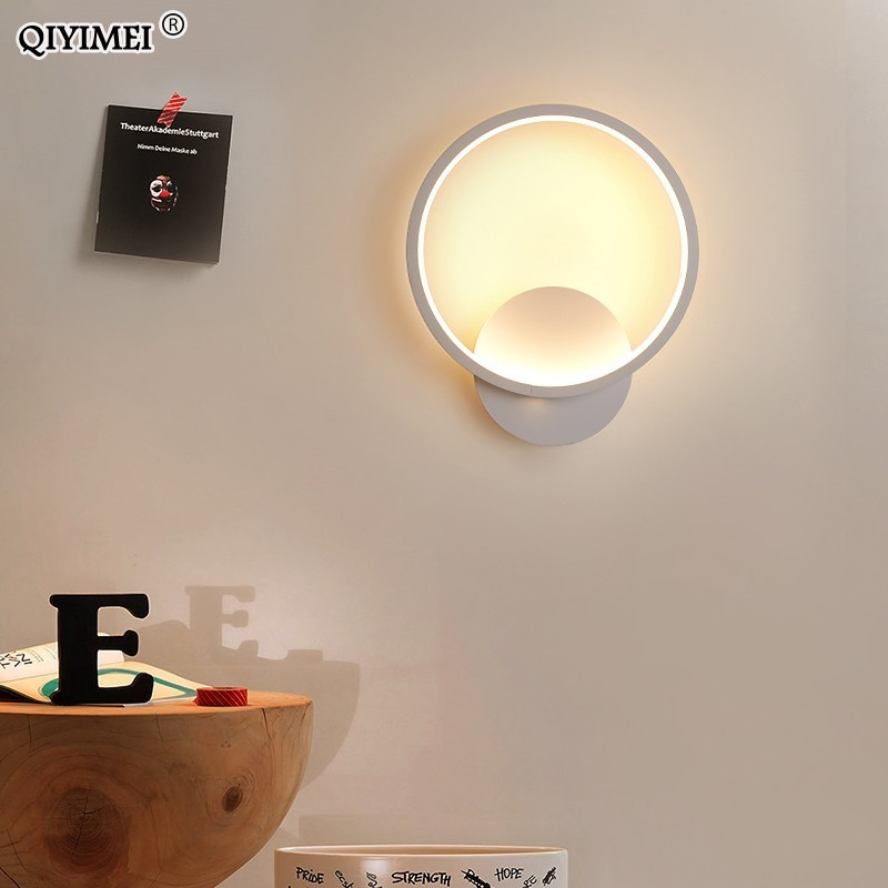 Lights & Lighting 11w 17w 23w 29w Ed Acrylic Wall Light Wall Sconce Living Room Bedroom Background White/coffee Frame Wall Corridor Wall Lamps De
