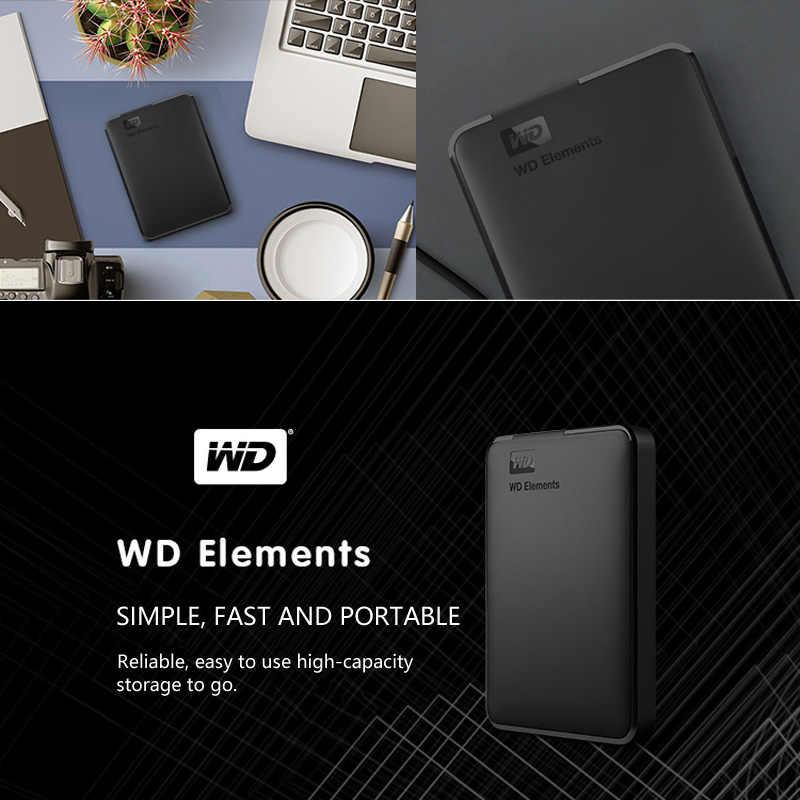 Портативный внешний жесткий диск WD Elements, 500 Гб, USB 3,0, HD HDD Емкость, SATA устройство для хранения, оригинал, для компьютера, ПК, PS4, ТВ