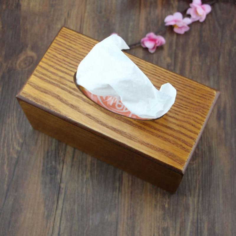 Eenvoudige Papieren Handdoek Opbergdoos Houten Lade Tissue Doos Thuis Keuken Auto Bar Restaurant Tafel Decoratie Accessoires Benodigdheden