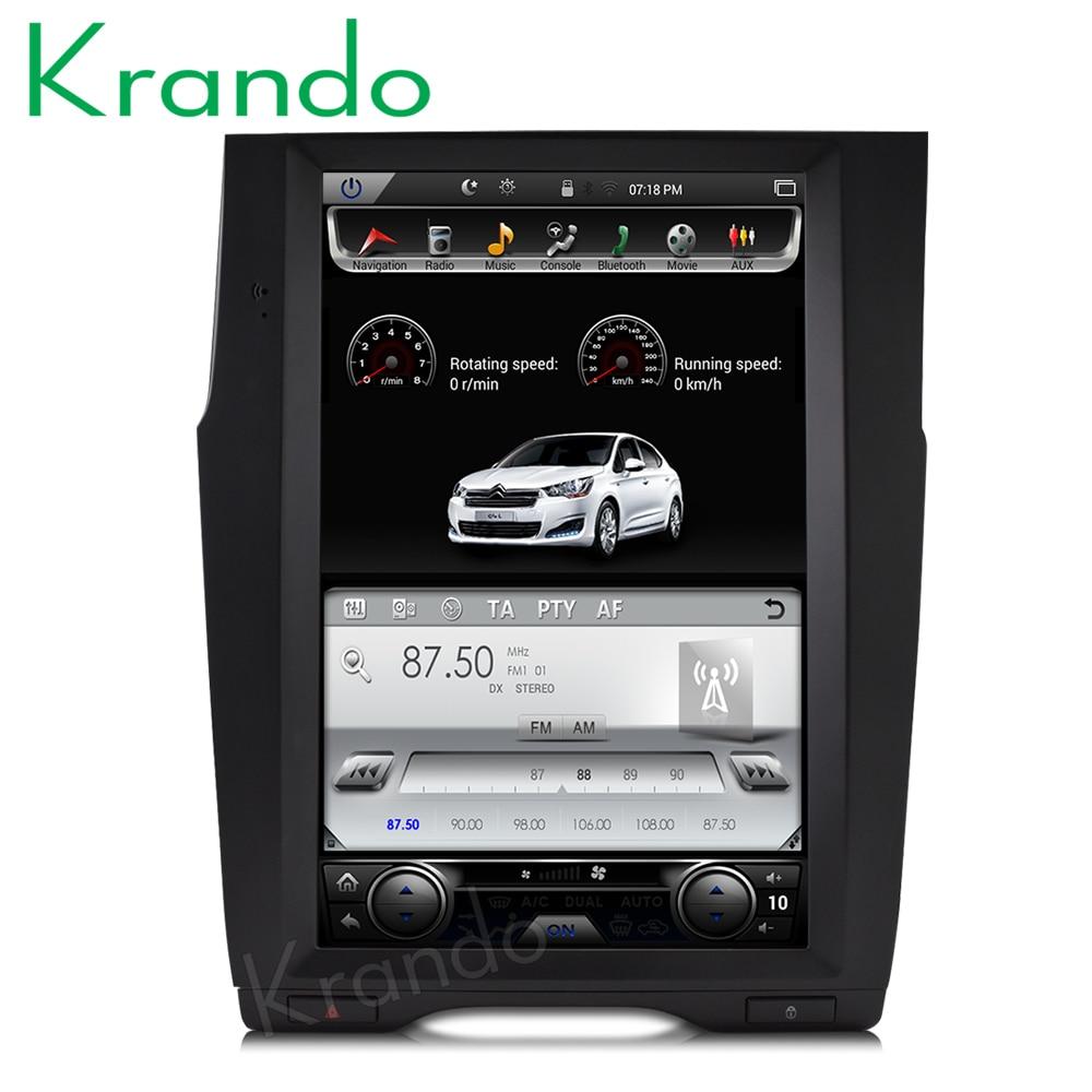 Krando Android 6 0 12 1 Tesla style Vertical car radio gps for Citroen C4 C4L