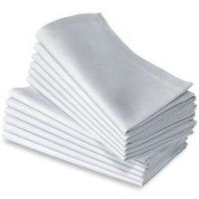 100% cotton  plain white napkin 50cm*50cm5
