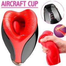 Aircraft Cup Electric Smart Heating Masturbation Sex Toys for Male Adult
