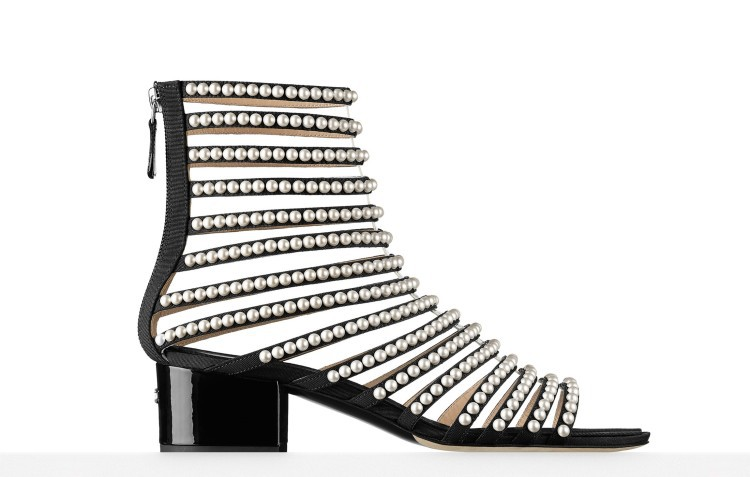 Carole Levy 2019 Concise Pearl String Decor Woman Summer Shoes Lady Fashion Show T-stage Show Med Heel Sexy Open Toe Shoes 33-44Carole Levy 2019 Concise Pearl String Decor Woman Summer Shoes Lady Fashion Show T-stage Show Med Heel Sexy Open Toe Shoes 33-44