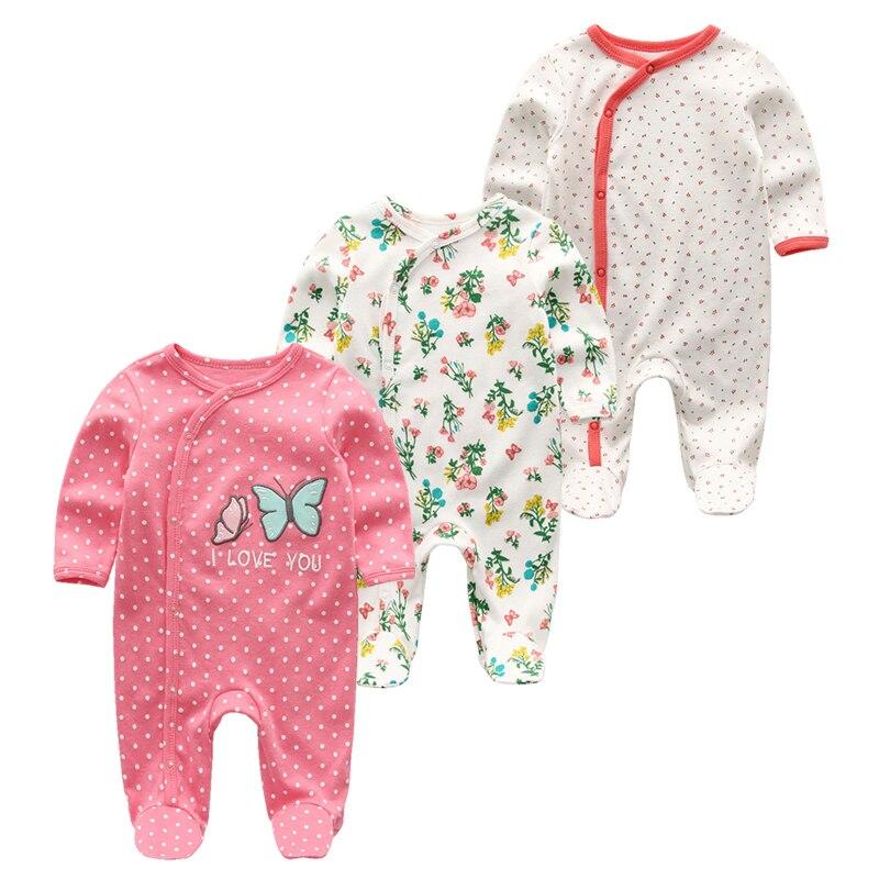 2021 bawełna 1/3 sztuk noworodka pełna rękaw jesień Baby Boy ubrania Romper dziewczynka ubrania Roupas de bebe dziewczyny odzież dla dzieci