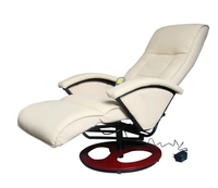 VidaXL Electric Massage Chair Office Chairs Furniture Commercial Furniture Leather Recliner Chair Swivel Chair With Footstool