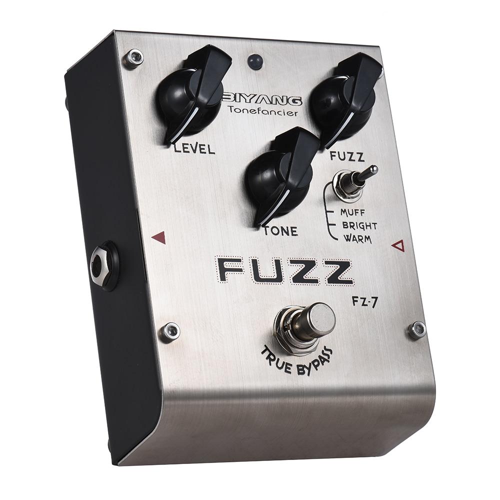 biyang fz7 fuzz guitar effect pedal 3 modes fuzz guitar pedal true bypass full metal shell. Black Bedroom Furniture Sets. Home Design Ideas