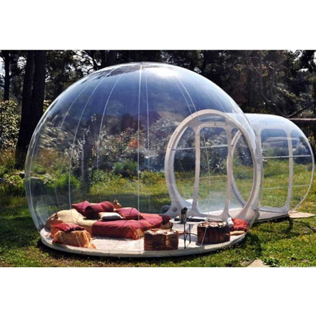 3/4/5 m 10/13/16ft Camping En Plein Air tente gonflable bubble Grand bricolage Maison Dôme Camping Cabine lodge Air Bulle tente transparente