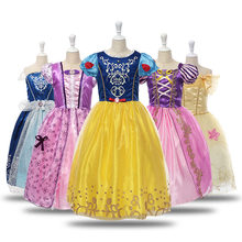 Sleeping beauty dress up Costume for kids girls aurora beauty and the beast belle costume Tangled Rapunzel Birthday Dress Up(China)